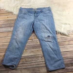 Old Navy Jeans Cropped Light Wash Size 14